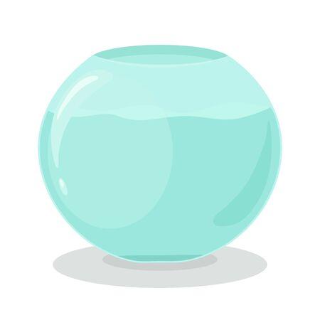 Aquarium glass bowl with water