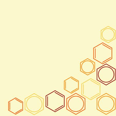 Molecule benzene, vector frame