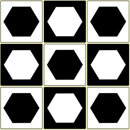 pentagon: Square pentagon balck white seamless pattern, background and texture Illustration
