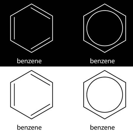 benzene: Molecule benzene, vector illustrarion