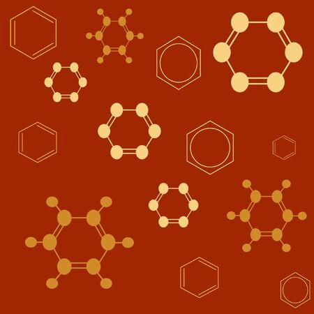 Molecule benzene, vector illustrarion