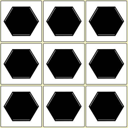 balck: Square pentagon balck white  pattern, background and texture