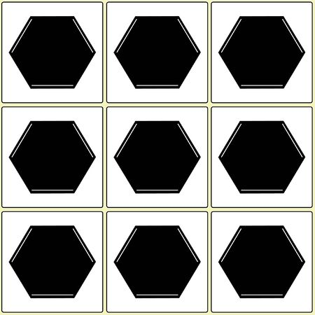 Square pentagon balck white  pattern, background and texture