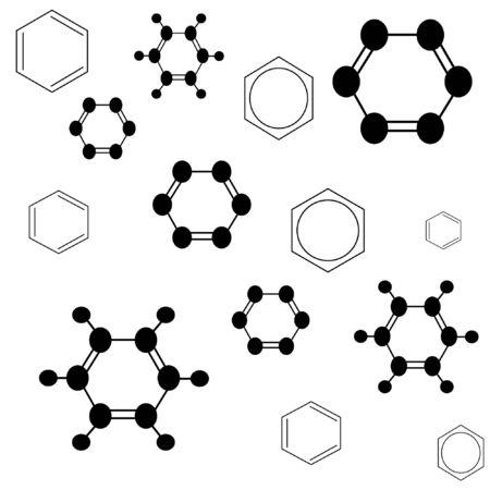 Molecule benzene, vector illustration