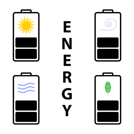 vector illustration  of energy Çizim