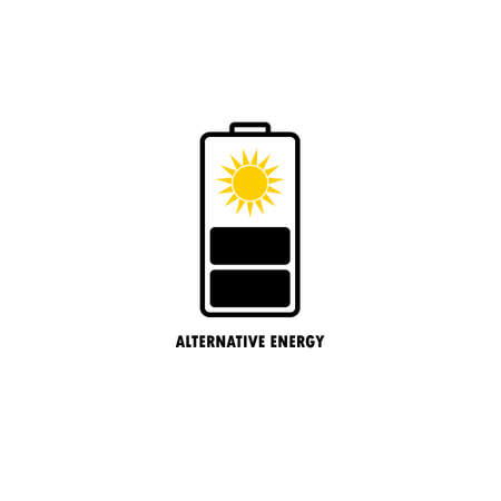 vector illustration  of source of alternative energy, sun Stok Fotoğraf - 58505316