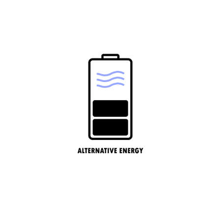 vector illustration  of source of alternative energy, water