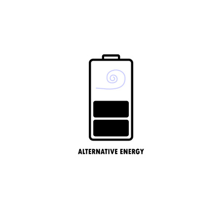 vector illustration  of source of alternative energy, wind