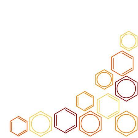 benzene: Molecule benzene, vector frame