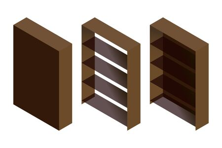 sideboard: Set of vector bookcase