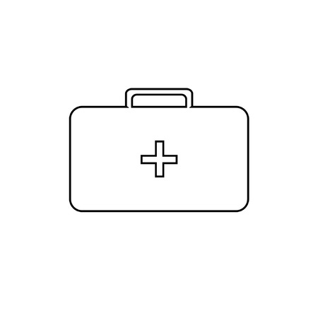 medicine chest: Vector icon of medicine chest with cross