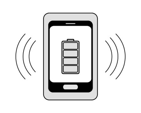 charge: Vector icon of wireless battery charge