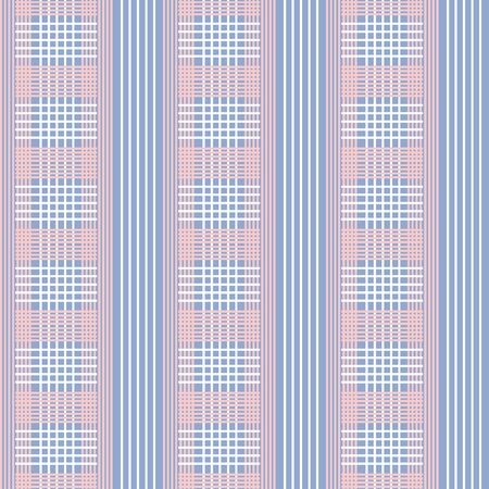 rose quartz: Checkered Vector seamless pattern.Pink and white line on blue background. Trendy color Rose Quartz and blue serenity.