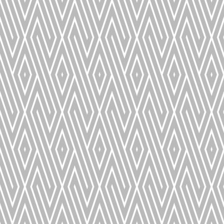 disjoint: Vector seamless pattern. Grey and white colors. Diagonal strip and rombus background.