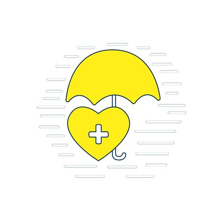 Vector icon of insurance health. Isolated illustration