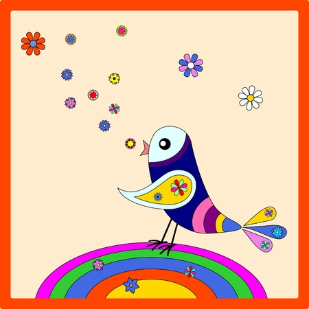 Rainbow bird Stock Vector - 11661273