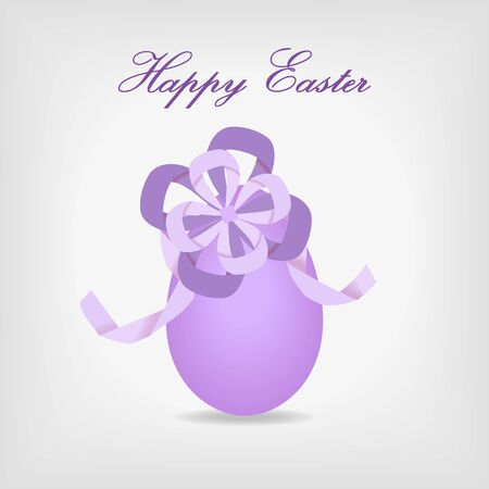 abstract easter egg with violet ribbon - vector illustration Vector