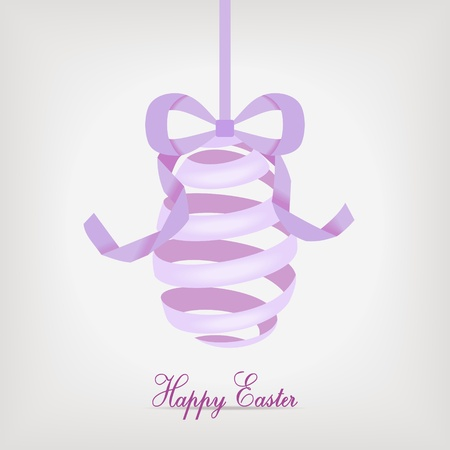 violet easter egg from spiral ribbon - vector illustration Stock Vector - 12208809