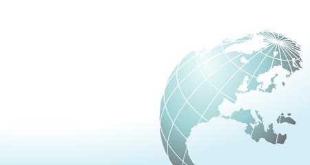 bitmap: elegant web banner or background with blue earth  - bitmap illustration