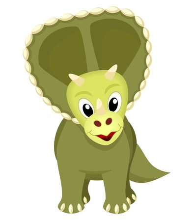 saurian: triceratops - dinosaur on white background