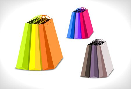 groups of shopping bags  - illustration Stock Vector - 14180848