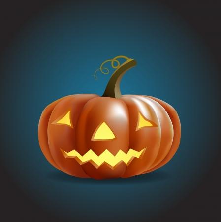 halloween pumpkin shining in the dark Stock Vector - 15685791
