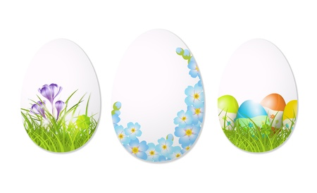 abstract easter eggs on white background, illustration, with transparency and gradient meshes Stock Vector - 18233054