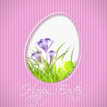 easter greeting card, illustration with transparency and gradient meshes Stock Vector - 18233083