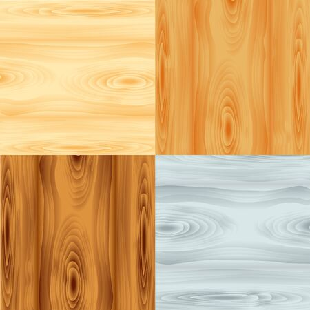 wood textures: four wood textures,  illustration Illustration