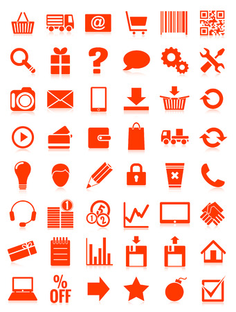 web icons for eshop Vector