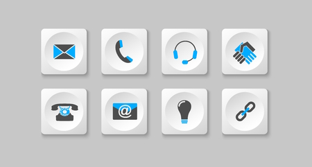 gray and blue computer icons  Vector