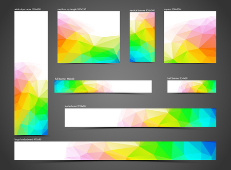 set of pink web banners, with copy space, vector illustration, eps 10 with transparency