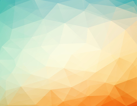 abstract geometric orange - blue background with triangles, vector illustration, eps 10 with transparency Vector