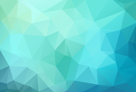 abstract geometric blue background with triangles, vector illustration Vettoriali
