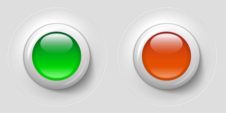 pilot light: white and green buttons with control lights