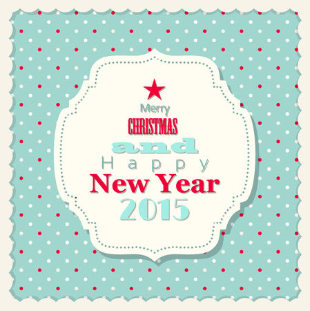 christmas and new year card in shabby chic style, vector illustration, eps 10 with transparency Vector