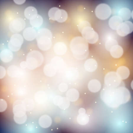 blurred lights: abstract bokeh background with sparkles, vector illustration, eps 10 with transparency