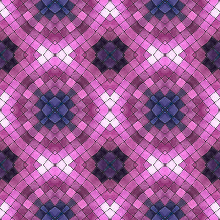 pink and dark blue mosaic seamless pattern, vector illustration, eps 10 Vector