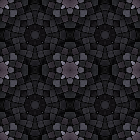 paving stone: gray mosaic seamless pattern, vector illustration