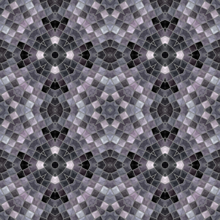 paving stones: gray mosaic seamless pattern, vector illustration