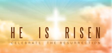 아침: 부활절 기독교 동기 일러스트