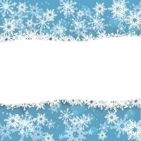 abstract winter holidys background with snowflakes, vector illustration, eps 10 with transparency and gradient mesh Çizim