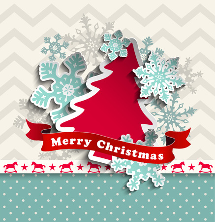 shadows: abstract christmas background with decorative snowflakes and chevron pattern