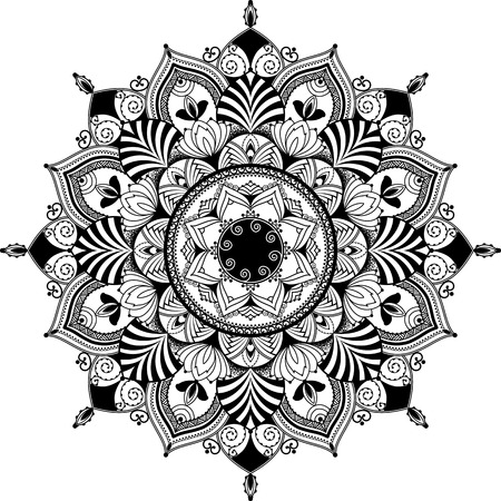 mandala geïnspireerde illustratie