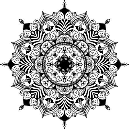 mandala inspired illustration