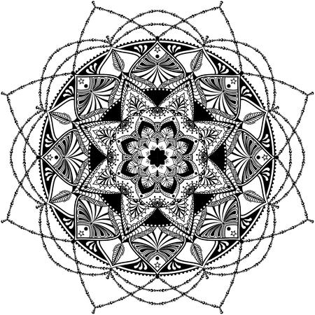 mandala inspirado, muy detallada ilustración