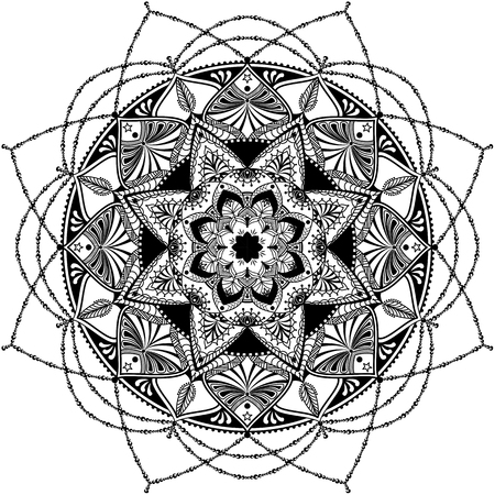 detailed: mandala inspired, highly detailed illustration
