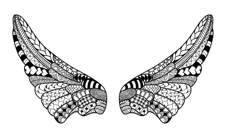 highly detailed: Angel wings, highly detailed illustration