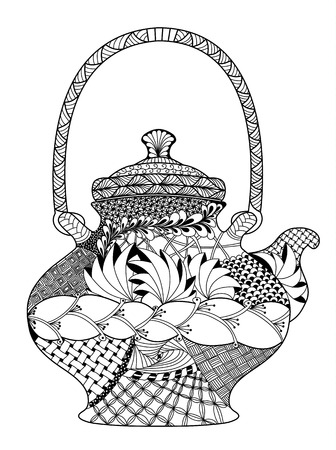 highly detailed: Teapot, highly detailed illustration Illustration