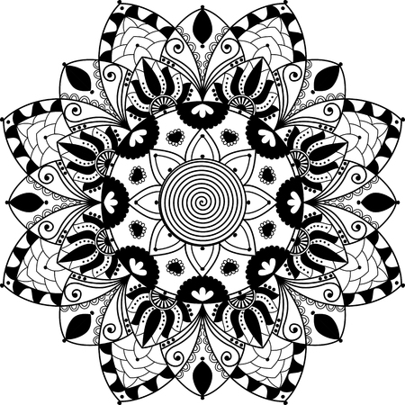 mandala: mandala, zentangle inspired Illustration